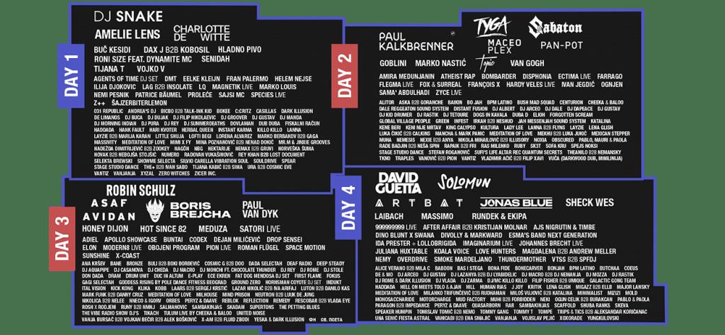 Lineup Exit Festival 2021