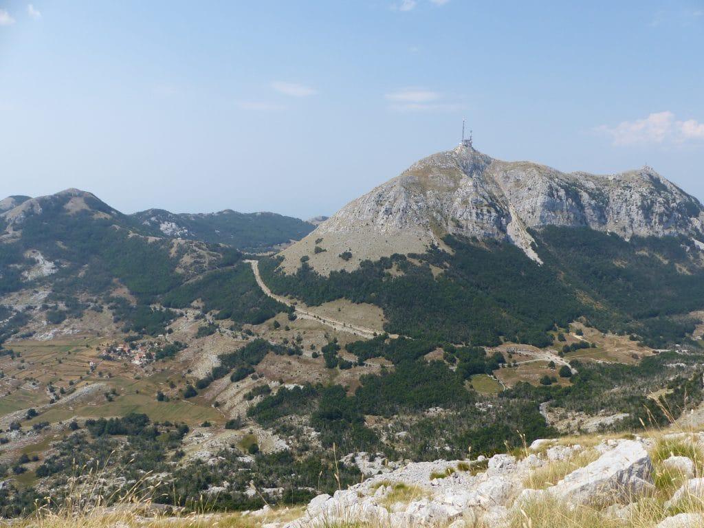 Vue sur le Mont Lovćen, Montenegro
